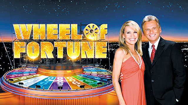 Pat Sajak has hosted the beloved American game show Wheel of Fortune since 1983 with his lovely co-host Vanna White. Picture credit TV by the Numbers.